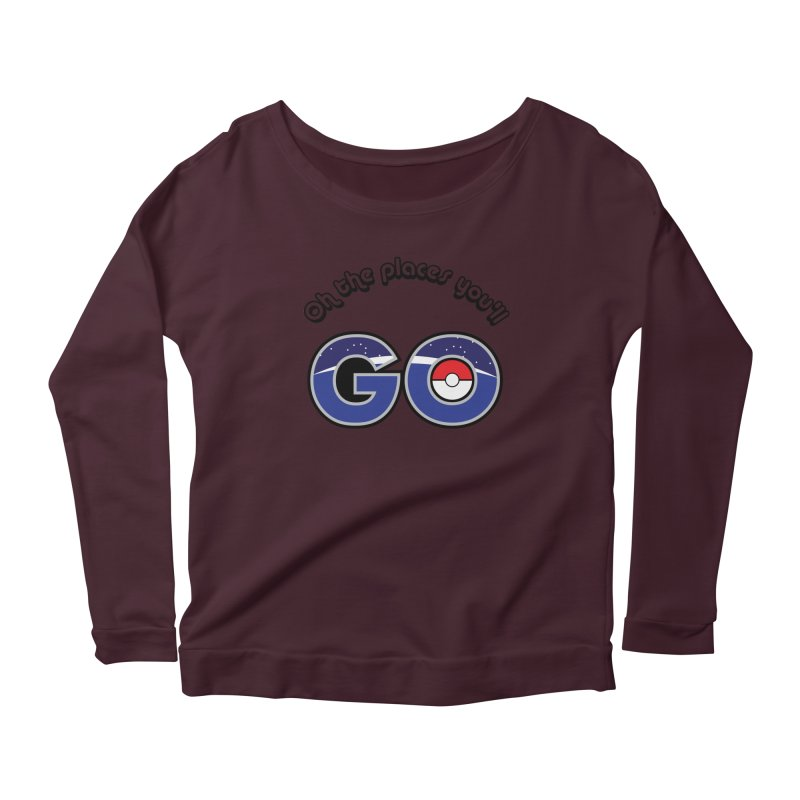 Oh the Places You'll Pokemon Go! Women's Longsleeve Scoopneck  by jaredslyterdesign's Artist Shop
