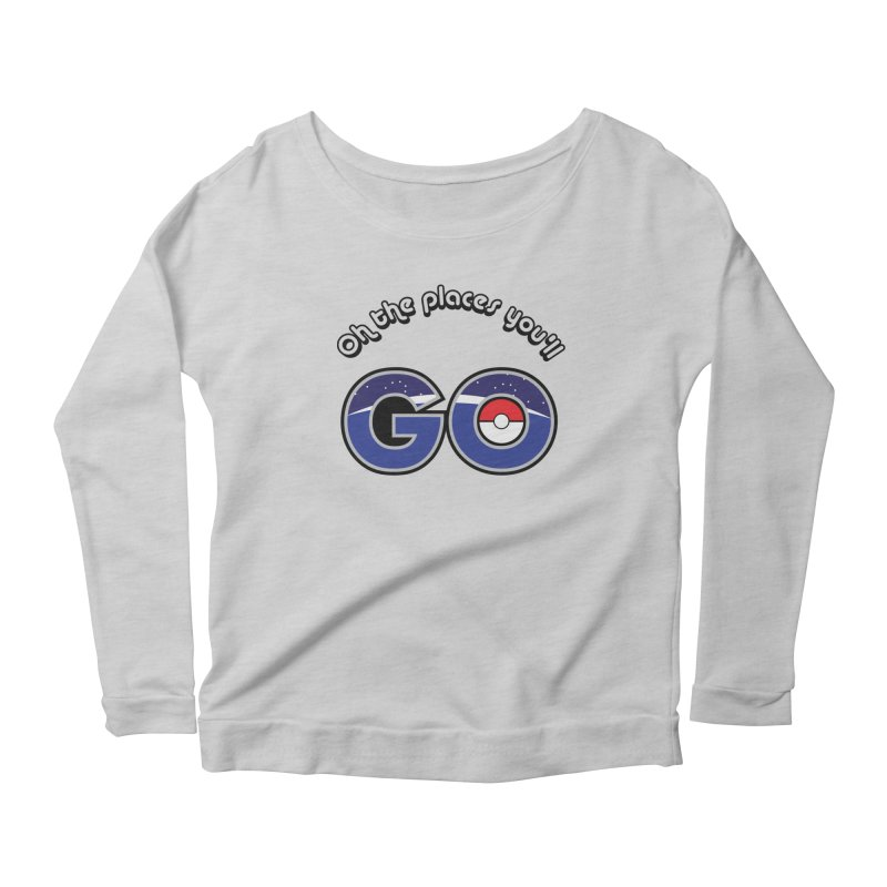 Oh the Places You'll Pokemon Go! Women's Scoop Neck Longsleeve T-Shirt by jaredslyterdesign's Artist Shop