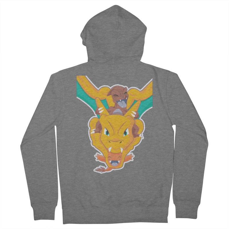 The Char Trio ( Charmander Charmeleon & Charizard) Men's French Terry Zip-Up Hoody by jaredslyterdesign's Artist Shop