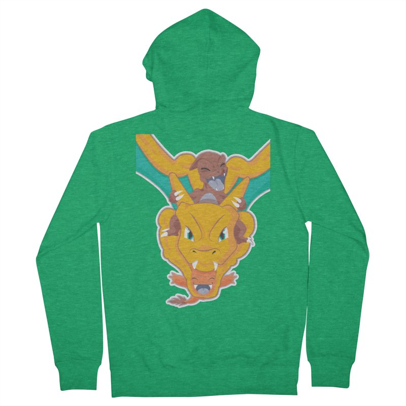 The Char Trio ( Charmander Charmeleon & Charizard) Men's Zip-Up Hoody by jaredslyterdesign's Artist Shop