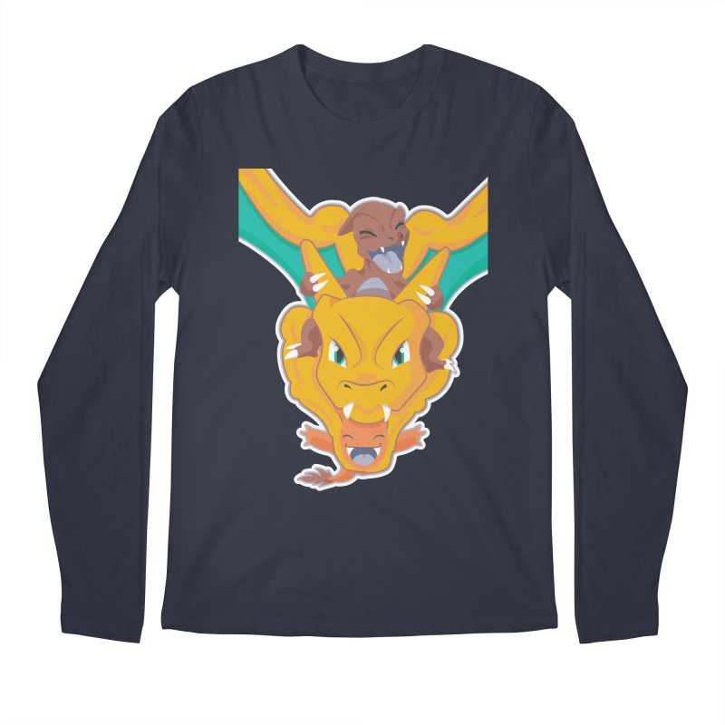 The Char Trio ( Charmander Charmeleon & Charizard) Men's Longsleeve T-Shirt by jaredslyterdesign's Artist Shop