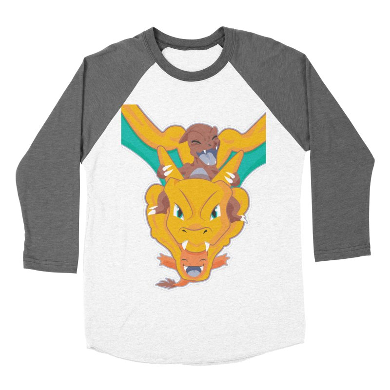 The Char Trio ( Charmander Charmeleon & Charizard) Women's Baseball Triblend Longsleeve T-Shirt by jaredslyterdesign's Artist Shop