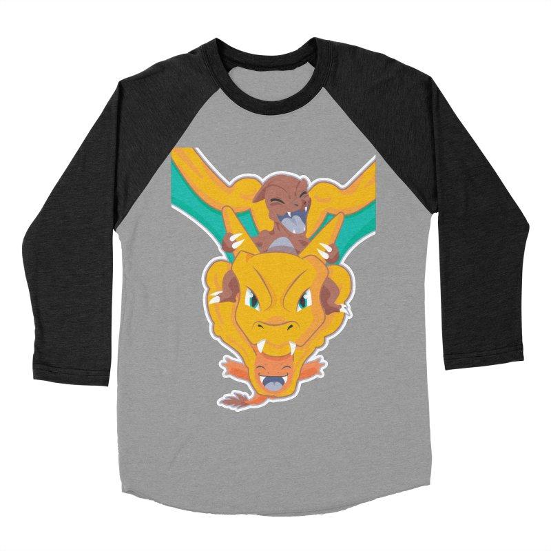 The Char Trio ( Charmander Charmeleon & Charizard) Women's Baseball Triblend Longsleeve T-Shirt by jaredslyterdesign's Artist Shop