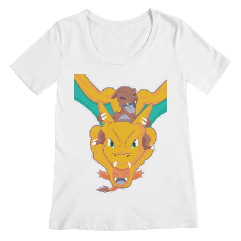 The Char Trio ( Charmander Charmeleon & Charizard) Women's Regular Scoop Neck by jaredslyterdesign's Artist Shop