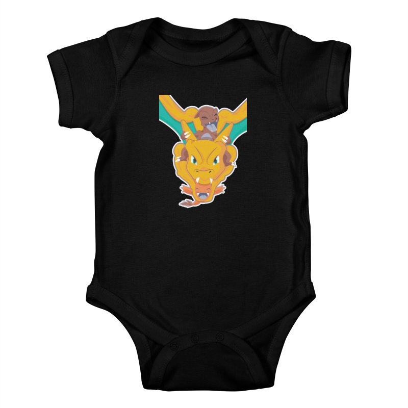 The Char Trio ( Charmander Charmeleon & Charizard) Kids Baby Bodysuit by jaredslyterdesign's Artist Shop