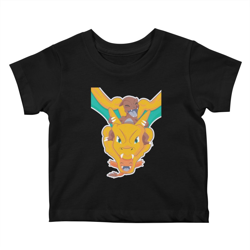 The Char Trio ( Charmander Charmeleon & Charizard) Kids Baby T-Shirt by jaredslyterdesign's Artist Shop
