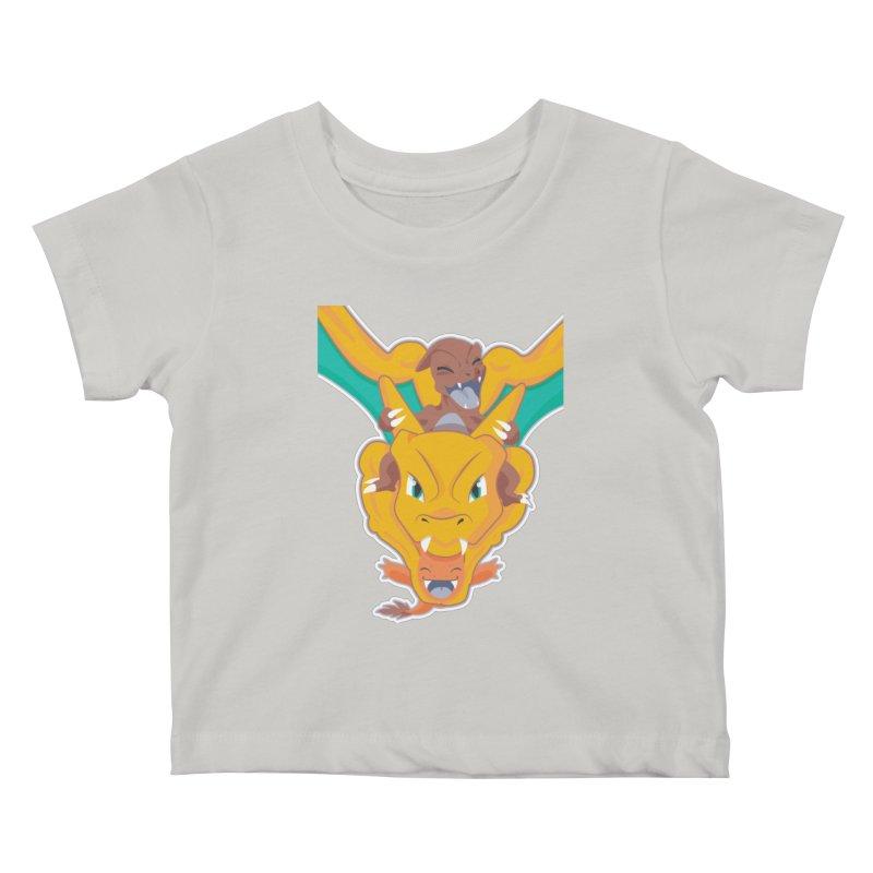 The Char Trio ( Charmander Charmeleon & Charizard) Kids Baby T-Shirt by jaredslyterdesign's Artist Shop