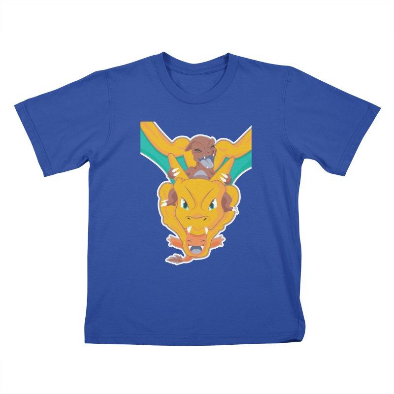 The Char Trio ( Charmander Charmeleon & Charizard) Kids T-Shirt by jaredslyterdesign's Artist Shop