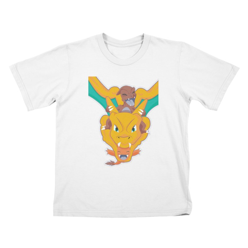 The Char Trio ( Charmander Charmeleon & Charizard) Kids T-Shirt by jaredslyterdesign's Artist Shop