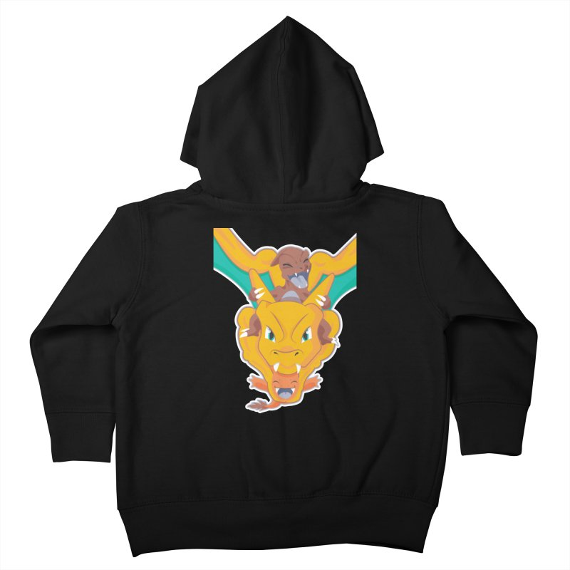 The Char Trio ( Charmander Charmeleon & Charizard) Kids Toddler Zip-Up Hoody by jaredslyterdesign's Artist Shop