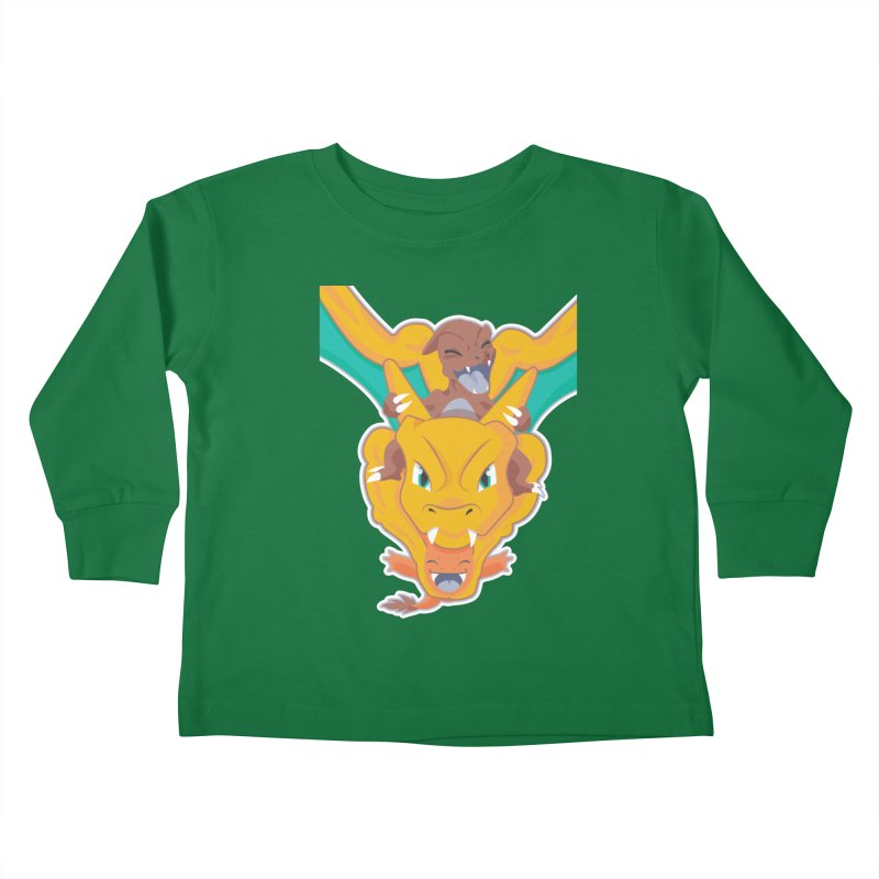 The Char Trio ( Charmander Charmeleon & Charizard) Kids Toddler Longsleeve T-Shirt by jaredslyterdesign's Artist Shop