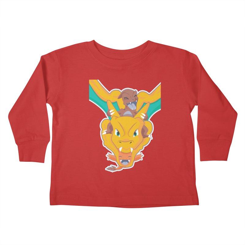 The Char Trio ( Charmander Charmeleon & Charizard) Kids Toddler Longsleeve T-Shirt by jaredslyterdesign's Artist Shop