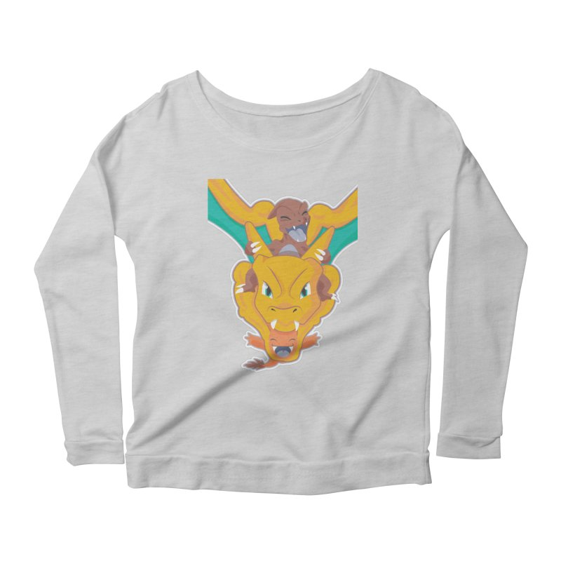 The Char Trio ( Charmander Charmeleon & Charizard) Women's Longsleeve Scoopneck  by jaredslyterdesign's Artist Shop
