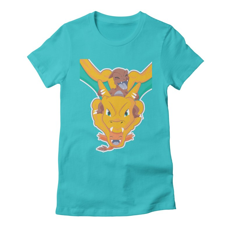 The Char Trio ( Charmander Charmeleon & Charizard) Women's Fitted T-Shirt by jaredslyterdesign's Artist Shop
