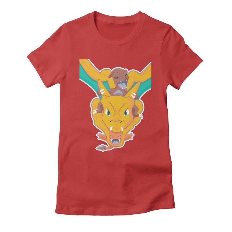 The Char Trio ( Charmander Charmeleon & Charizard) Women's Fitted T-Shirt by jaredslyterdesign's Artist Shop