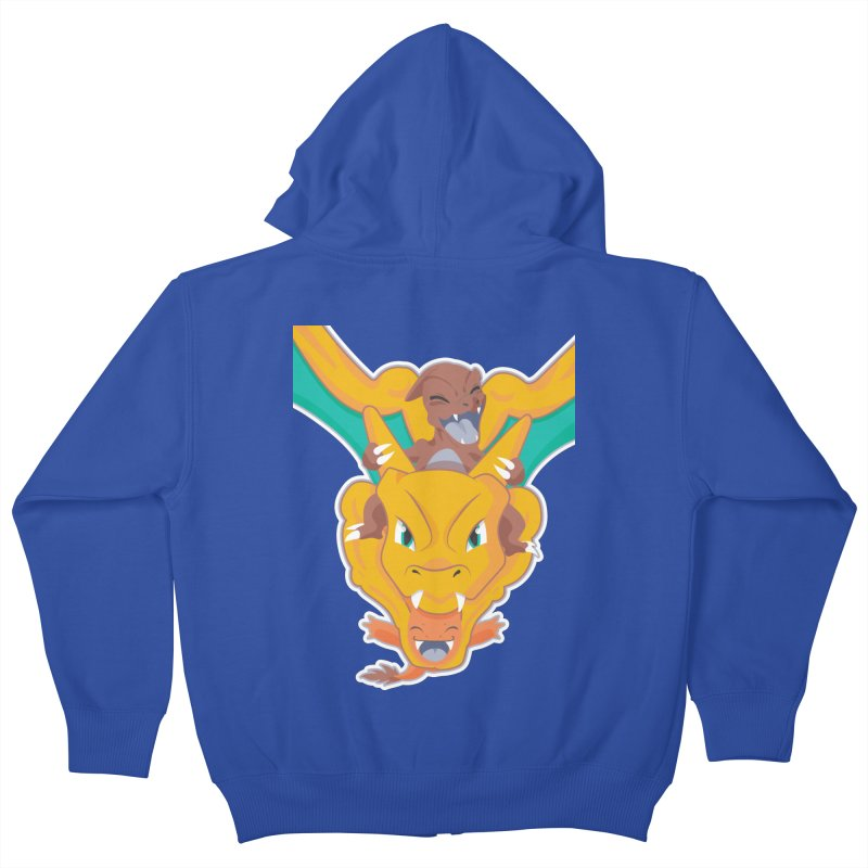 The Char Trio ( Charmander Charmeleon & Charizard) Kids Zip-Up Hoody by jaredslyterdesign's Artist Shop