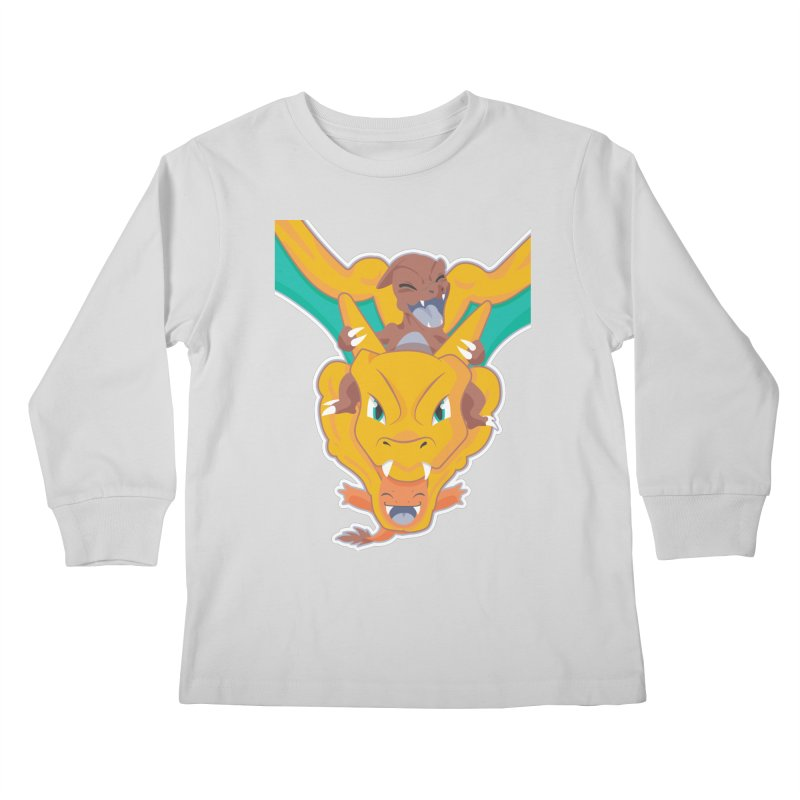 The Char Trio ( Charmander Charmeleon & Charizard) Kids Longsleeve T-Shirt by jaredslyterdesign's Artist Shop