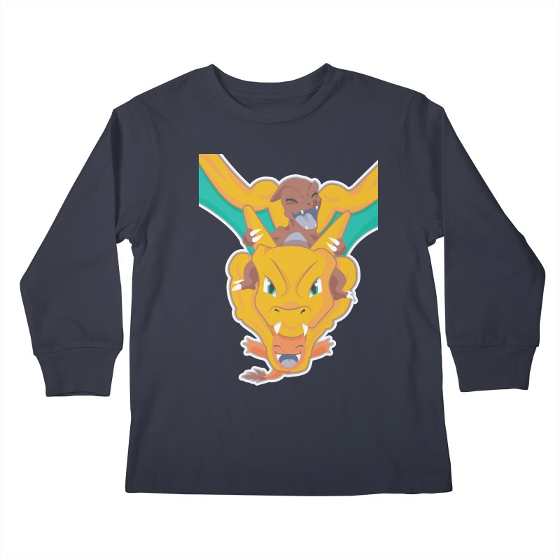 The Char Trio ( Charmander Charmeleon & Charizard) Kids Longsleeve T-Shirt by jaredslyterdesign's Artist Shop