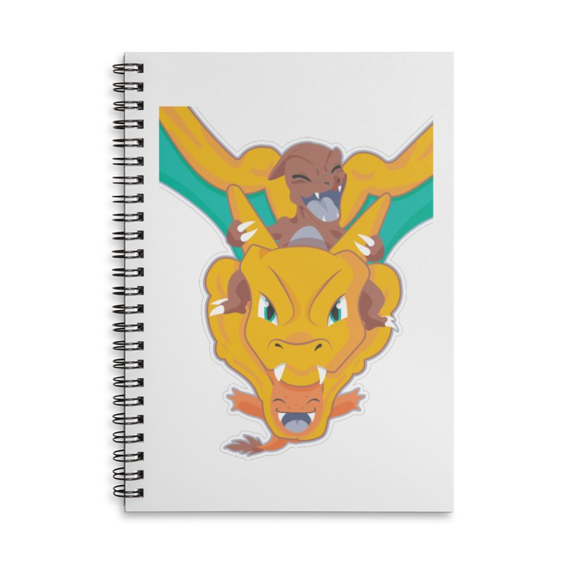 The Char Trio ( Charmander Charmeleon & Charizard) Accessories Lined Spiral Notebook by jaredslyterdesign's Artist Shop