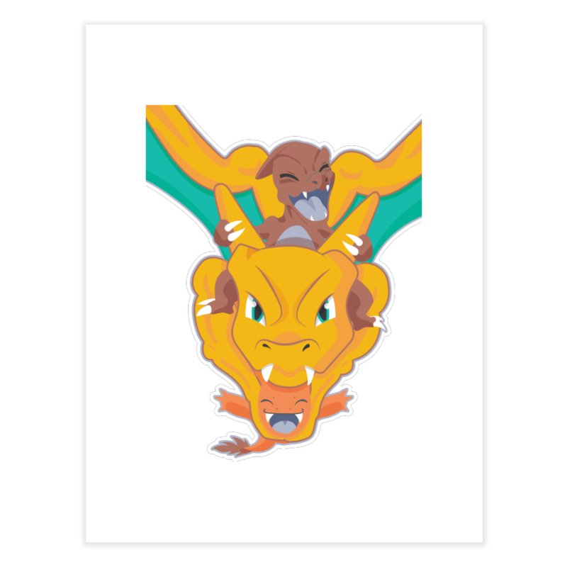 The Char Trio ( Charmander Charmeleon & Charizard) Home Fine Art Print by jaredslyterdesign's Artist Shop