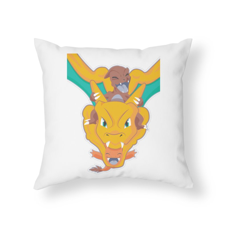 The Char Trio ( Charmander Charmeleon & Charizard) Home Throw Pillow by jaredslyterdesign's Artist Shop