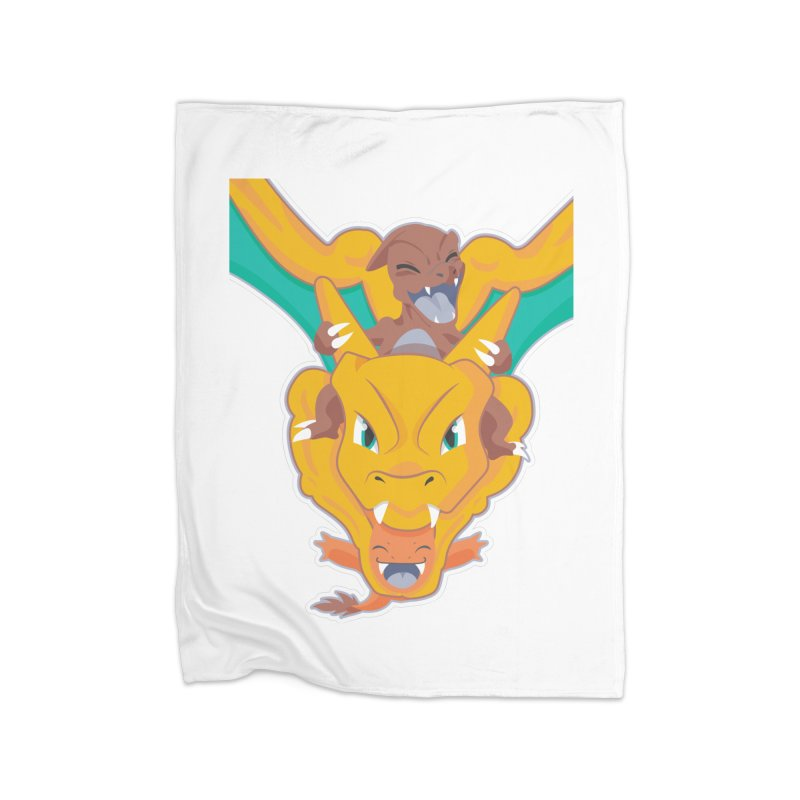 The Char Trio ( Charmander Charmeleon & Charizard) Home Fleece Blanket Blanket by jaredslyterdesign's Artist Shop