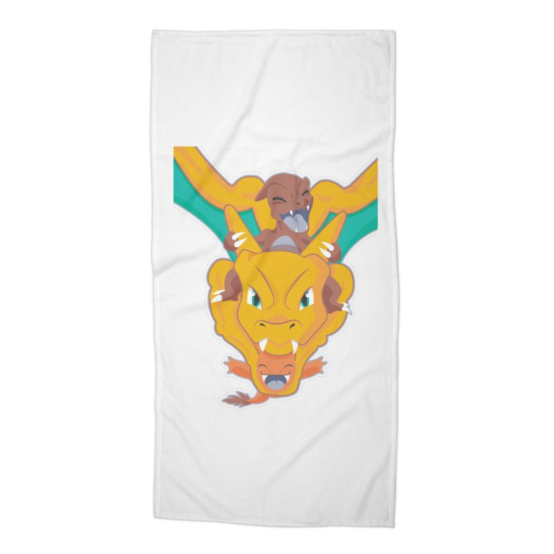 The Char Trio ( Charmander Charmeleon & Charizard) Accessories Beach Towel by jaredslyterdesign's Artist Shop