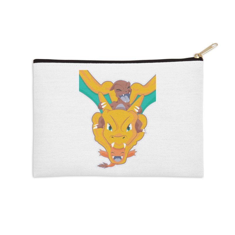 The Char Trio ( Charmander Charmeleon & Charizard) Accessories Zip Pouch by jaredslyterdesign's Artist Shop
