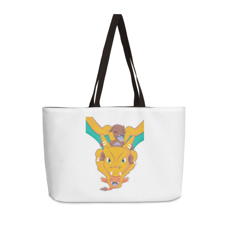 The Char Trio ( Charmander Charmeleon & Charizard) Accessories Weekender Bag Bag by jaredslyterdesign's Artist Shop