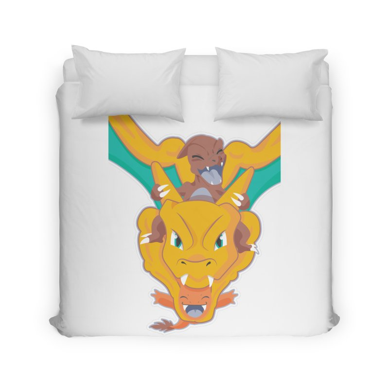 The Char Trio ( Charmander Charmeleon & Charizard) Home Duvet by jaredslyterdesign's Artist Shop