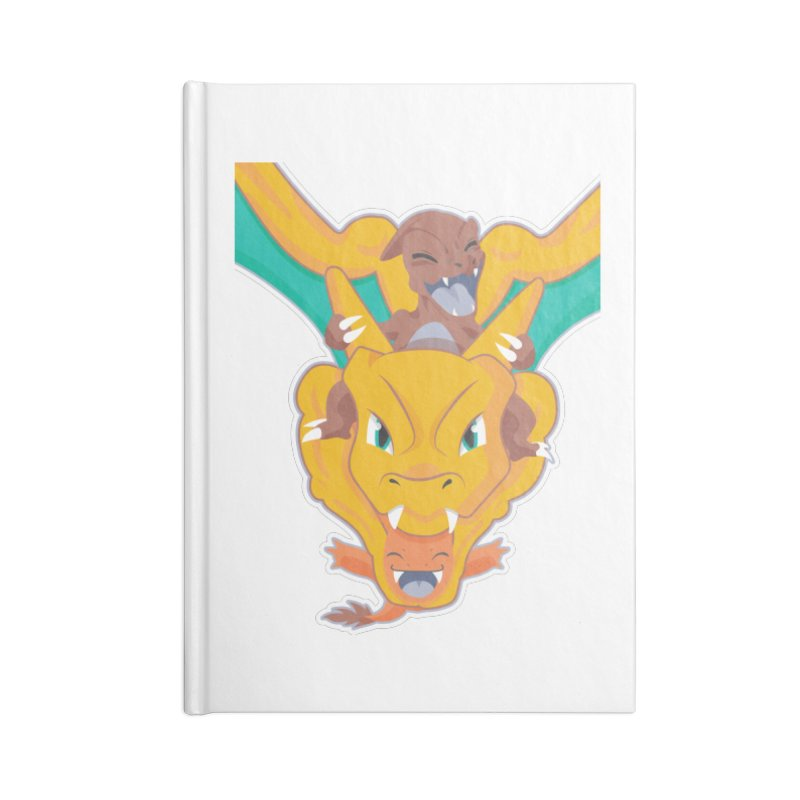The Char Trio ( Charmander Charmeleon & Charizard) Accessories Blank Journal Notebook by jaredslyterdesign's Artist Shop