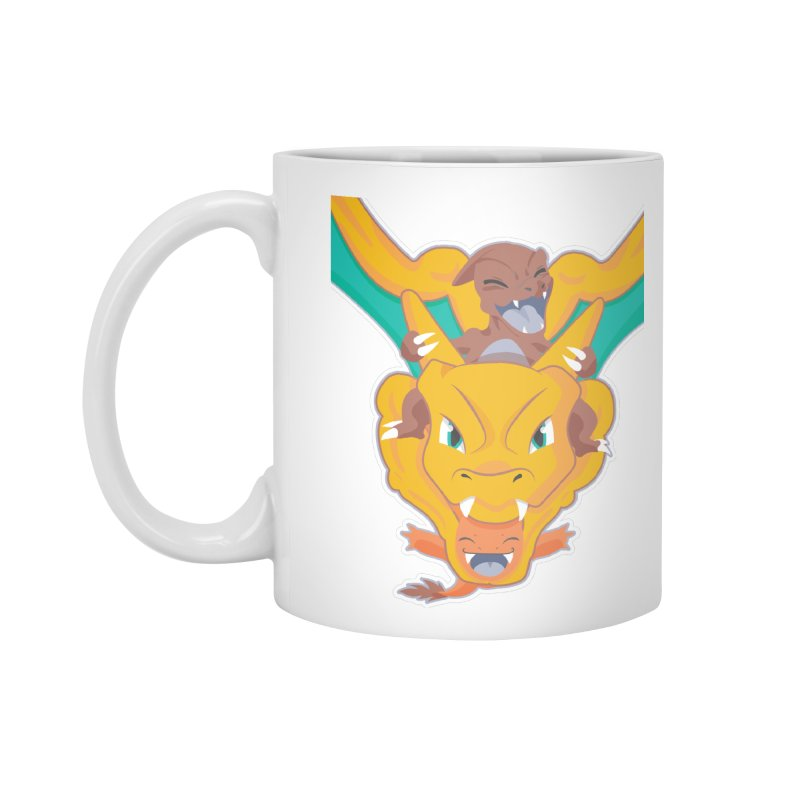 The Char Trio ( Charmander Charmeleon & Charizard) Accessories Standard Mug by jaredslyterdesign's Artist Shop