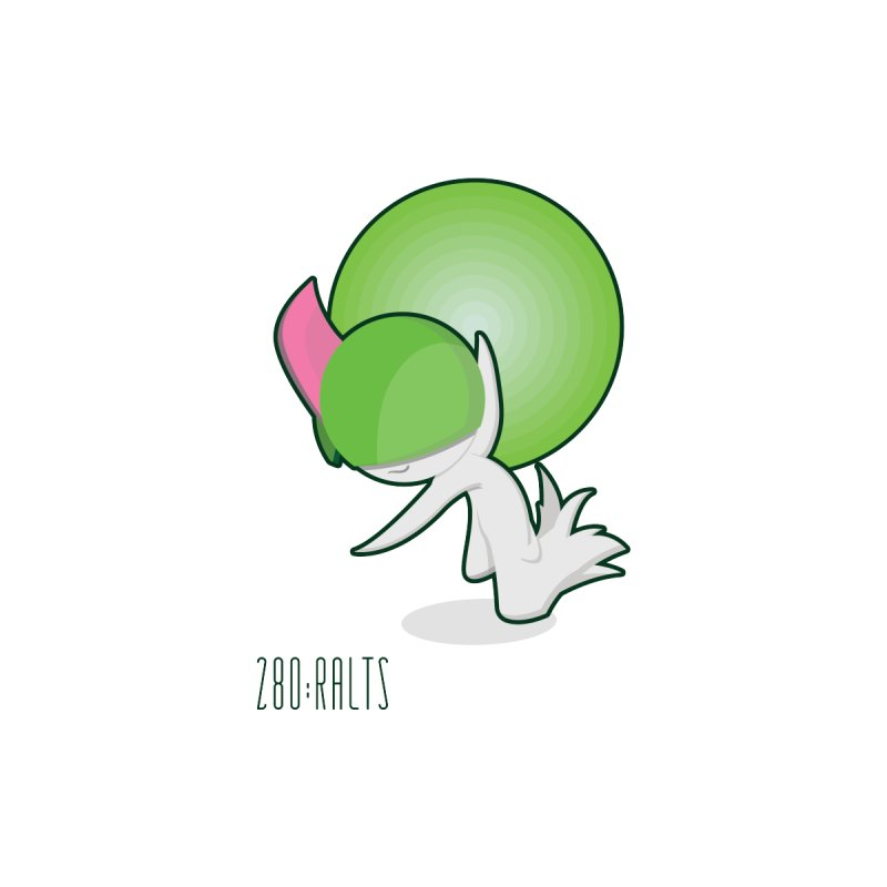 Ralts by jaredslyterdesign's Artist Shop