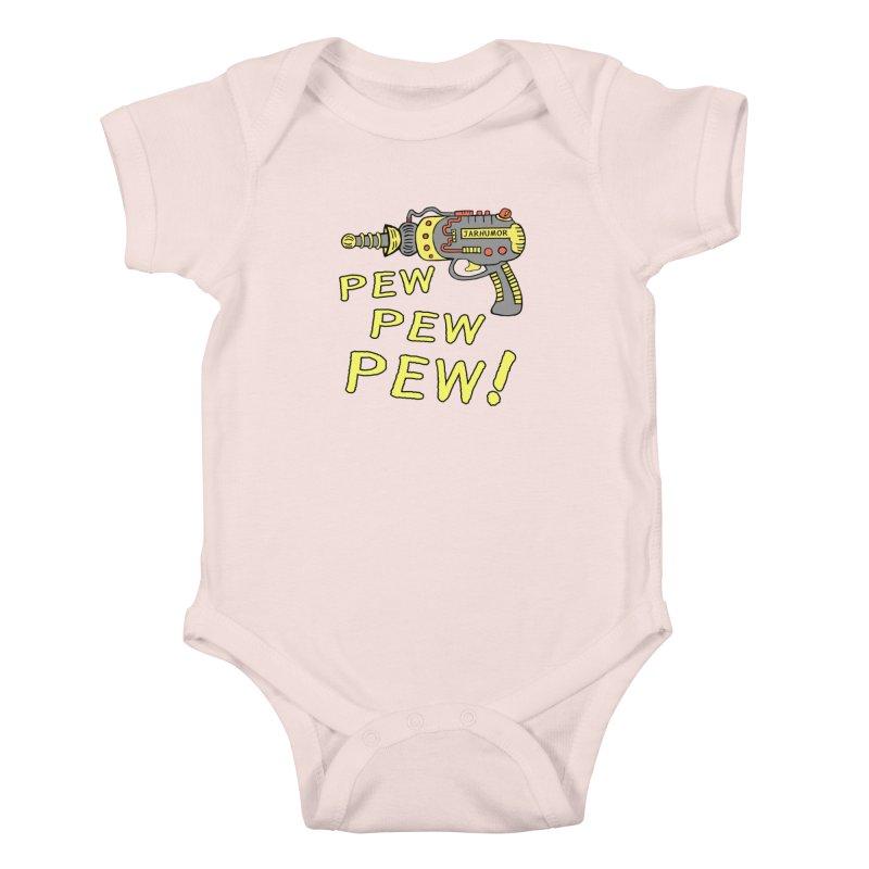 Pew Pew Pew Kids Baby Bodysuit by James A. Roberson (JARHUMOR)