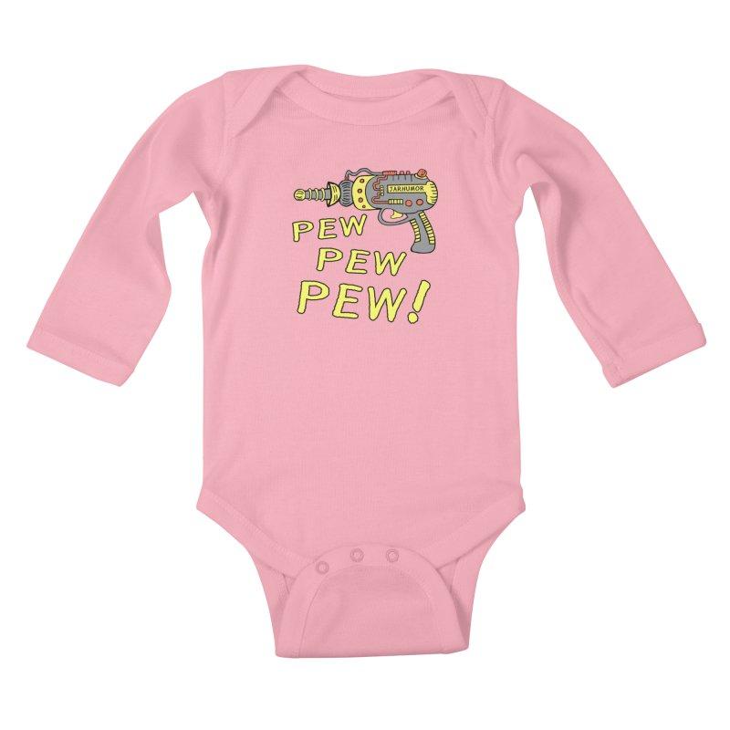 Pew Pew Pew Kids Baby Longsleeve Bodysuit by JARHUMOR