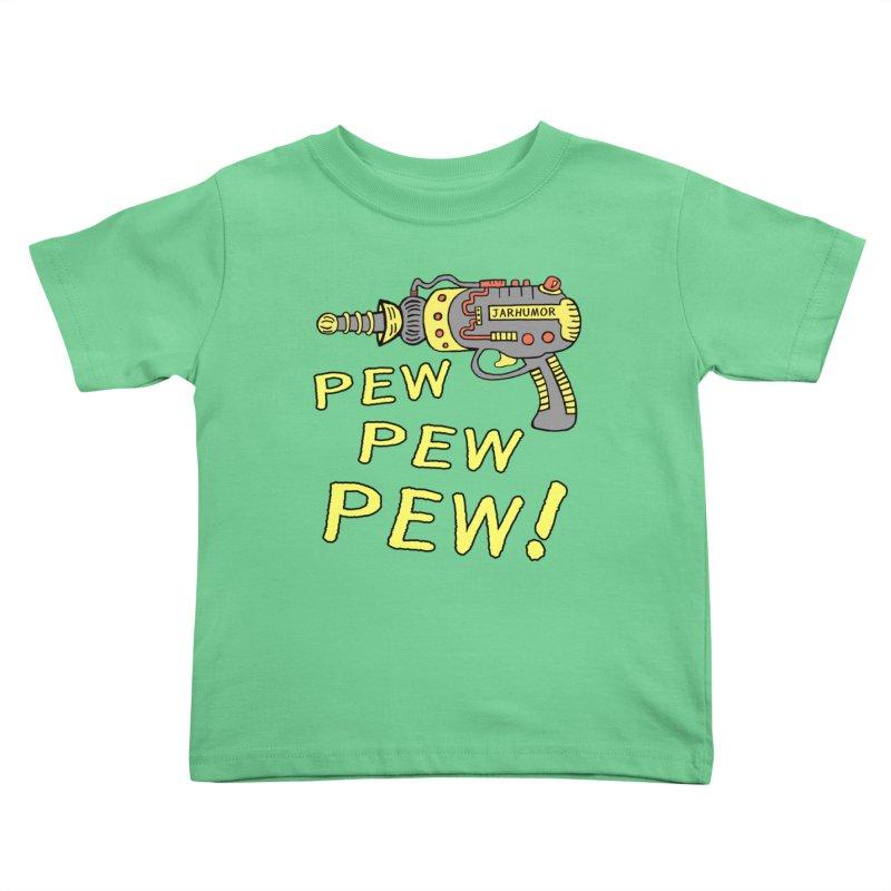 Pew Pew Pew Kids Toddler T-Shirt by James A. Roberson (JARHUMOR)