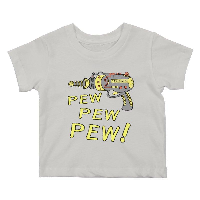 Pew Pew Pew Kids Baby T-Shirt by JARHUMOR