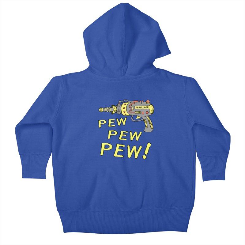 Pew Pew Pew Kids Baby Zip-Up Hoody by James A. Roberson (JARHUMOR)