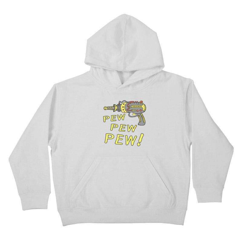 Pew Pew Pew Kids Pullover Hoody by James A. Roberson (JARHUMOR)