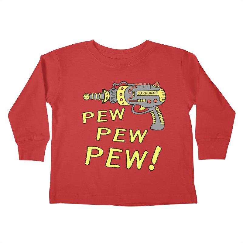 Pew Pew Pew Kids Toddler Longsleeve T-Shirt by JARHUMOR