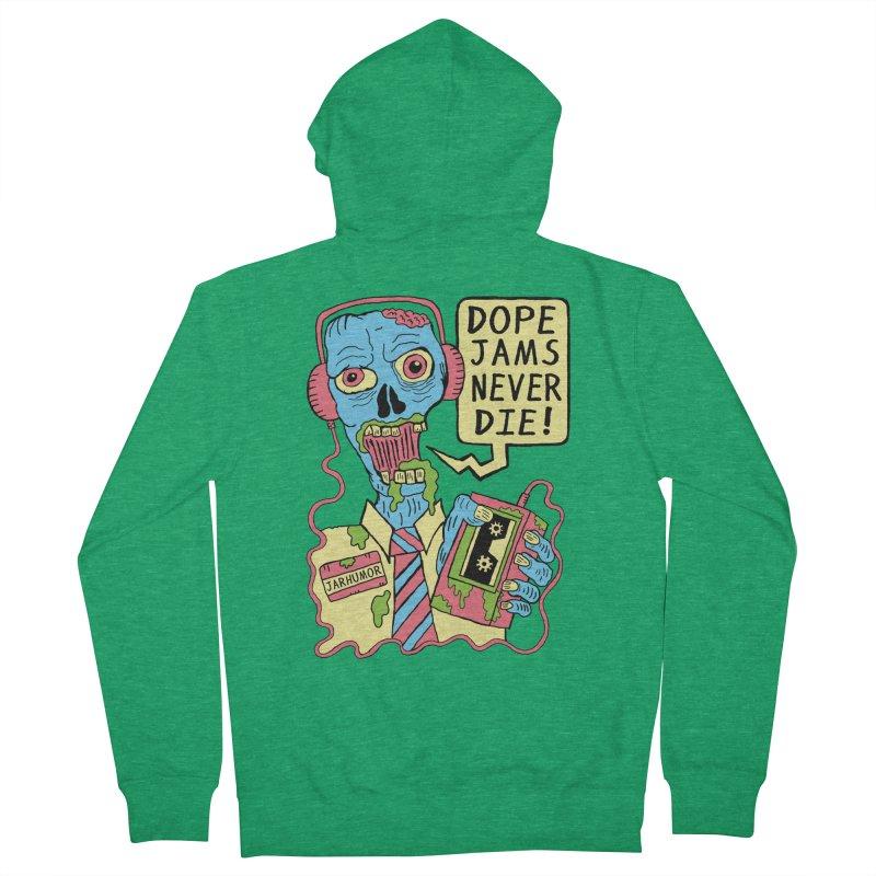 Dope Jams Zombie Men's Zip-Up Hoody by JARHUMOR