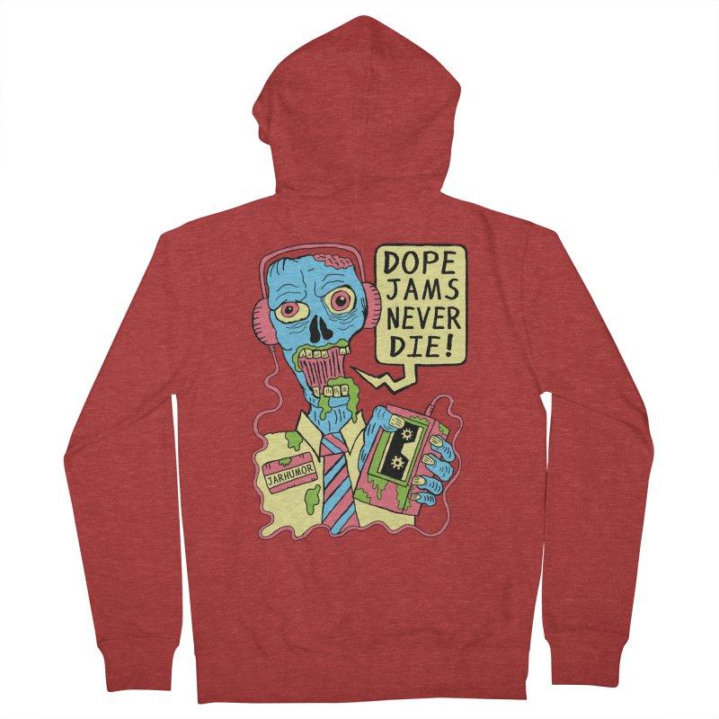 Dope Jams Zombie Men's Zip-Up Hoody by James A. Roberson (JARHUMOR)