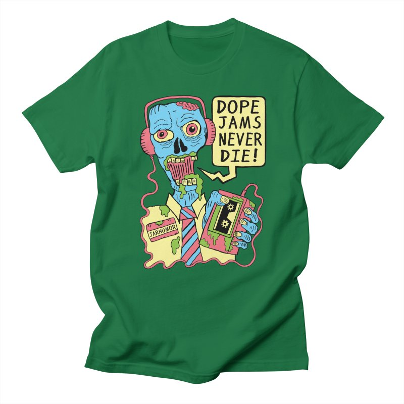 Dope Jams Zombie Men's T-shirt by James A. Roberson (JARHUMOR)