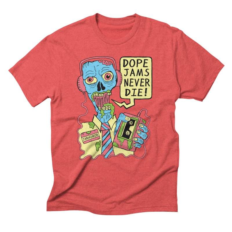 Dope Jams Zombie Men's Triblend T-shirt by James A. Roberson (JARHUMOR)