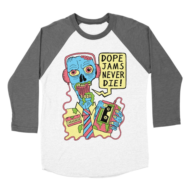 Dope Jams Zombie Women's Baseball Triblend T-Shirt by James A. Roberson (JARHUMOR)