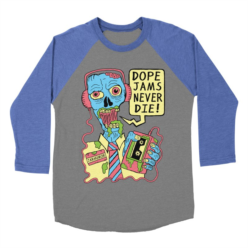 Dope Jams Zombie Men's Baseball Triblend T-Shirt by James A. Roberson (JARHUMOR)