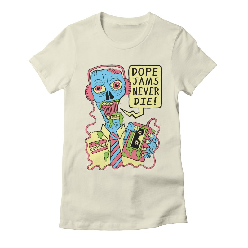 Dope Jams Zombie Women's Fitted T-Shirt by James A. Roberson (JARHUMOR)