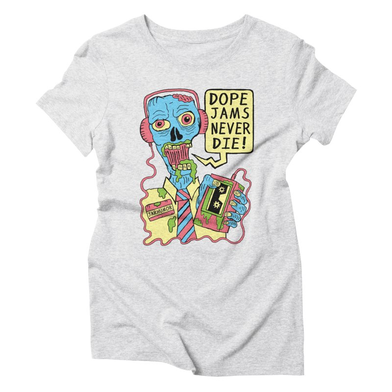 Dope Jams Zombie Women's Triblend T-shirt by James A. Roberson (JARHUMOR)
