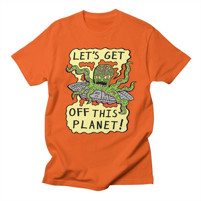 Alien UFO Escape Men's T-shirt by James A. Roberson (JARHUMOR)