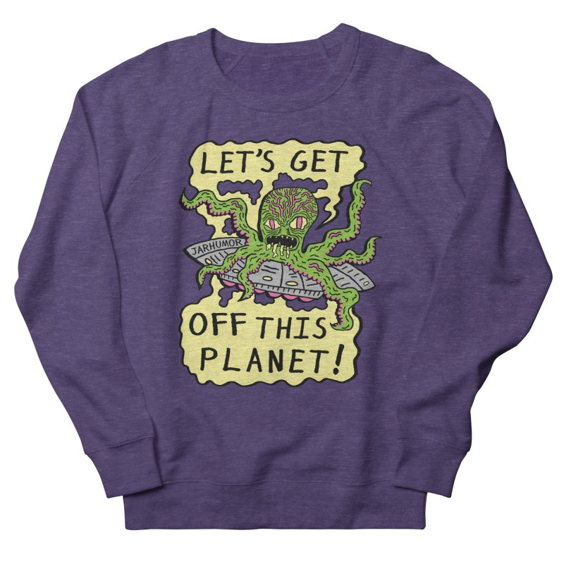 Alien UFO Escape Women's Sweatshirt by JARHUMOR